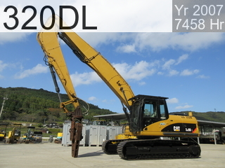 Used Construction Machine used Demolition excavators 320DL #WJN00140, 2007Year 7458Hours