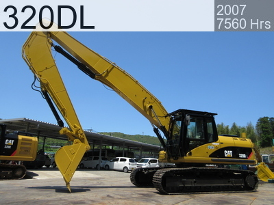 Used Construction Machine used  320DL #WJN00140, 2007Year 7560Hours