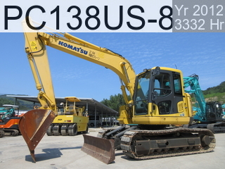 Used Construction Machine used  PC138US-8 #29461, 2012Year 3332Hours
