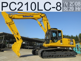 Used Construction Machine used Demolition excavators PC210LC-8N1 #314580, 2008Year 8829Hours