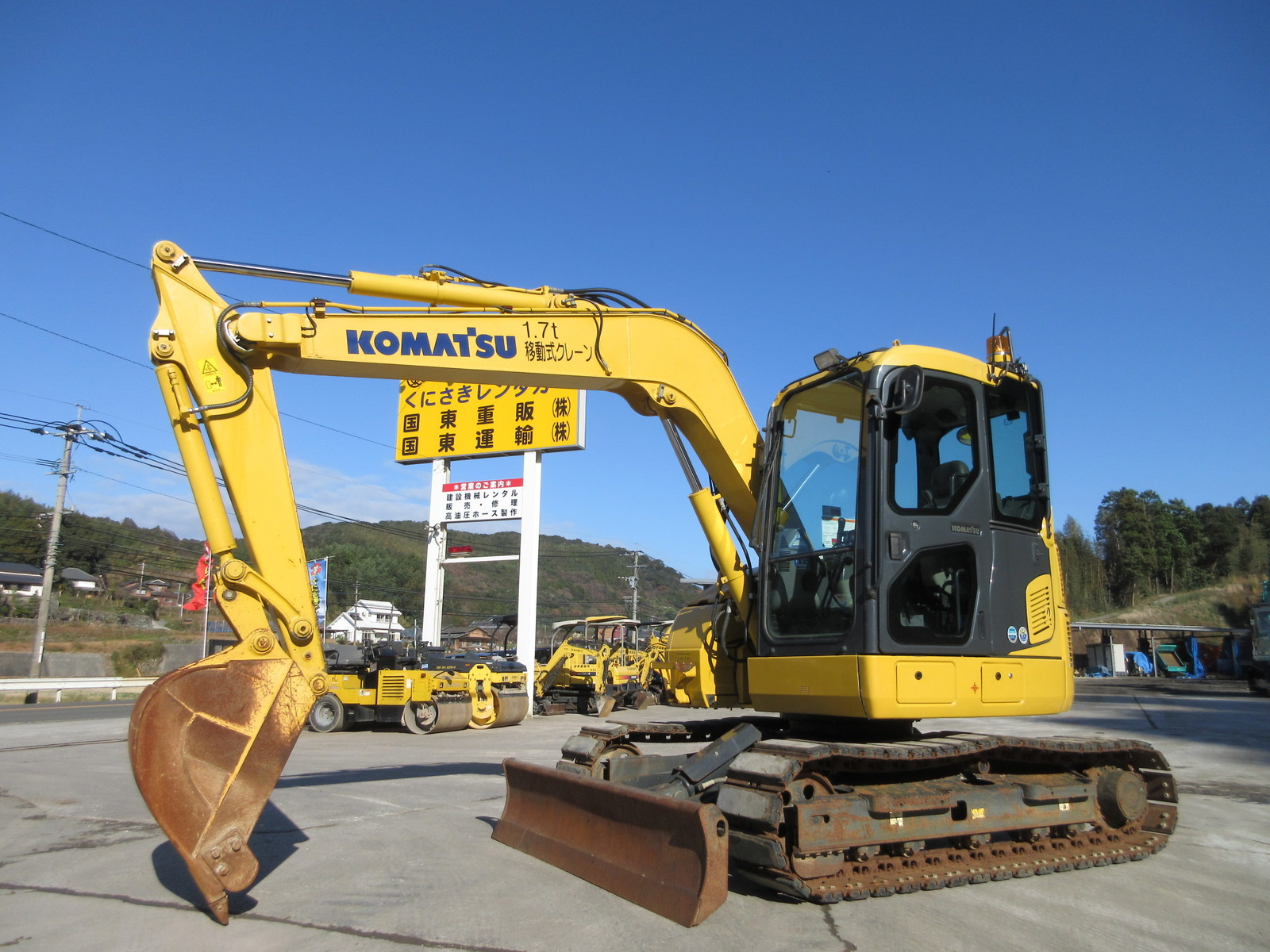 Used Construction Machine used Excavator KOMATSU PC78US-10 Photos