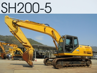 Used Construction Machine used  SH200-5 #4185, 2013Year 2925Hours