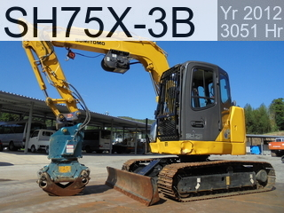 Used Construction Machine used  SH75X-3B #8014, 2012Year 3051Hours