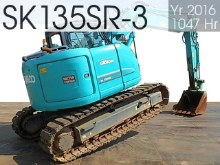 Used Construction Machine used  SK135SR-3 #YY07-26286, 2016Year 1047Hours