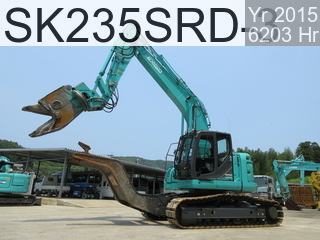 Used Construction Machine used Car dismantlers SK235SRD-3 #YF07-03112, 2015Year 6203Hours