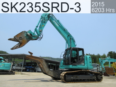 Used Construction Machine used  SK235SRD-3 #YF07-03112, 2015Year 6203Hours