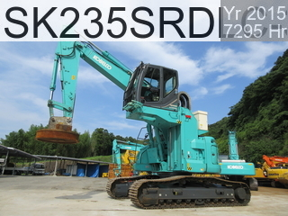 Used Construction Machine used Material Handling / Recycling excavators SK235SRDLC-3 #YU07-04377, 2015Year 7295Hours