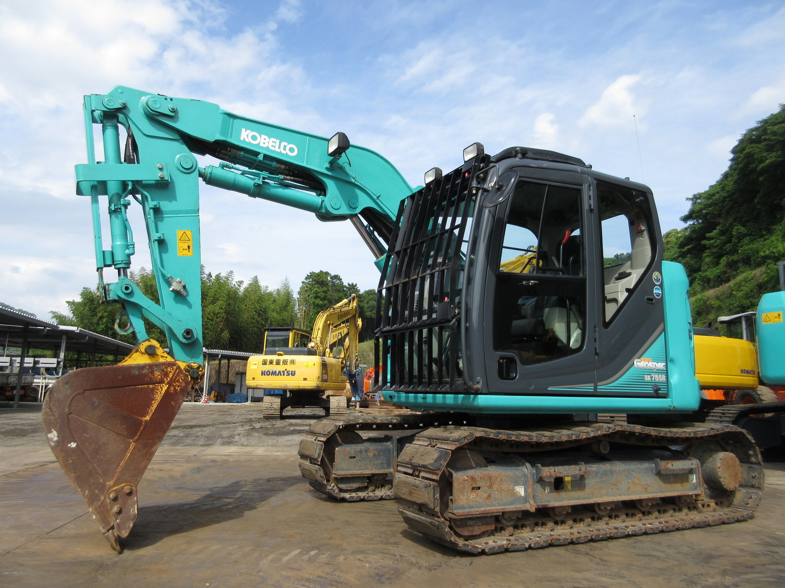 Used Construction Machine used Excavator KOBELCO SK75SR-3E Photos