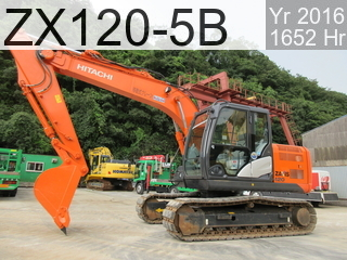 Used Construction Machine used  ZX120-5B #97035, 2016Year 1652Hours