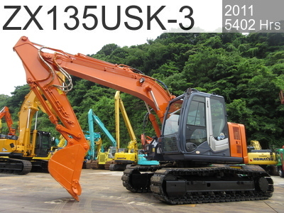 Used Construction Machine used  ZX135USK-3 #86625, 2011Year 5402Hours
