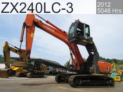 Used Construction Machine used  ZX240LC-3 #26549, 2012Year 5046Hours