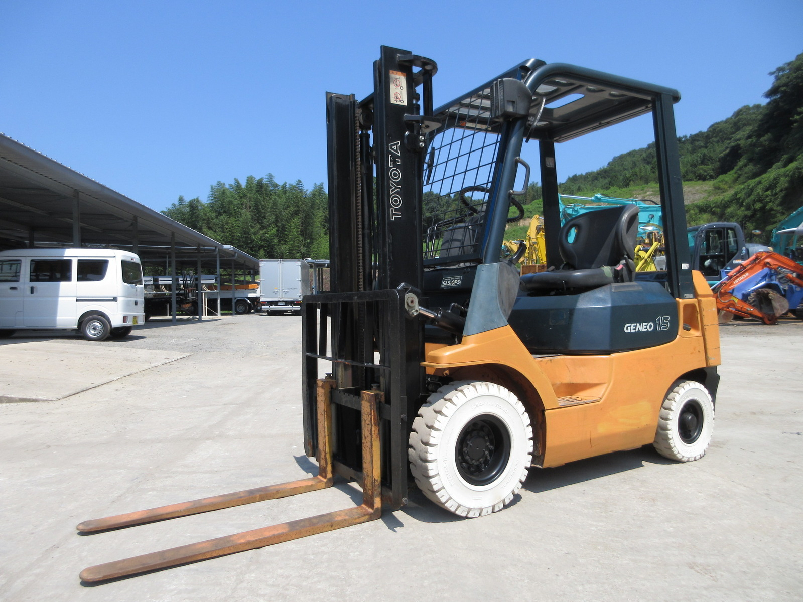 Used Construction Machine used Forklift TOYOTA 02-7FD15 Photos