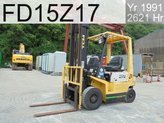 Used Construction Machine used  FD15Z17 #11F04418, 1991Year 2621Hours