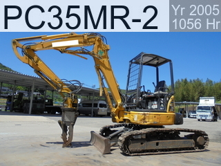 Used Construction Machine used  PC35MR-2 #7513, 2005Year 1056Hours