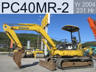Used Construction Machine used  PC40MR-2 #9247, 2004Year 231Hours