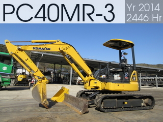 Used Construction Machine used  PC40MR-3 #21676, 2014Year 2446Hours
