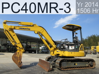 Used Construction Machine used  PC40MR-3 #22640, 2014Year 1506Hours