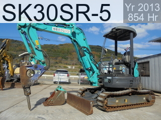 Used Construction Machine used  SK30SR-5 #PW14-48643, 2013Year 854Hours