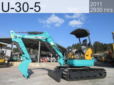 Used Construction Machine used  U-30-5 #72989, 2011Year 2930Hours