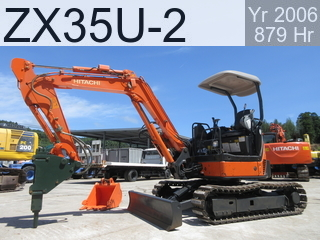 Used Construction Machine used  ZX35U-2 #10945, 2006Year 876Hours