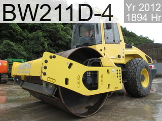 Used Construction Machine used  BW211D-4 #91719, 2012Year 1894Hours