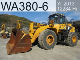 Used Construction Machine used  WA380-6 #66979, 2013Year 12354Hours