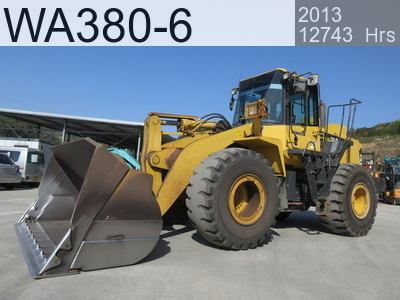 Used Construction Machine used  WA380-6 #66979, 2013Year 12743Hours
