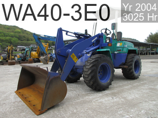 Used Construction Machine used  WA40-3E0 #20316, 2004Year 3025Hours