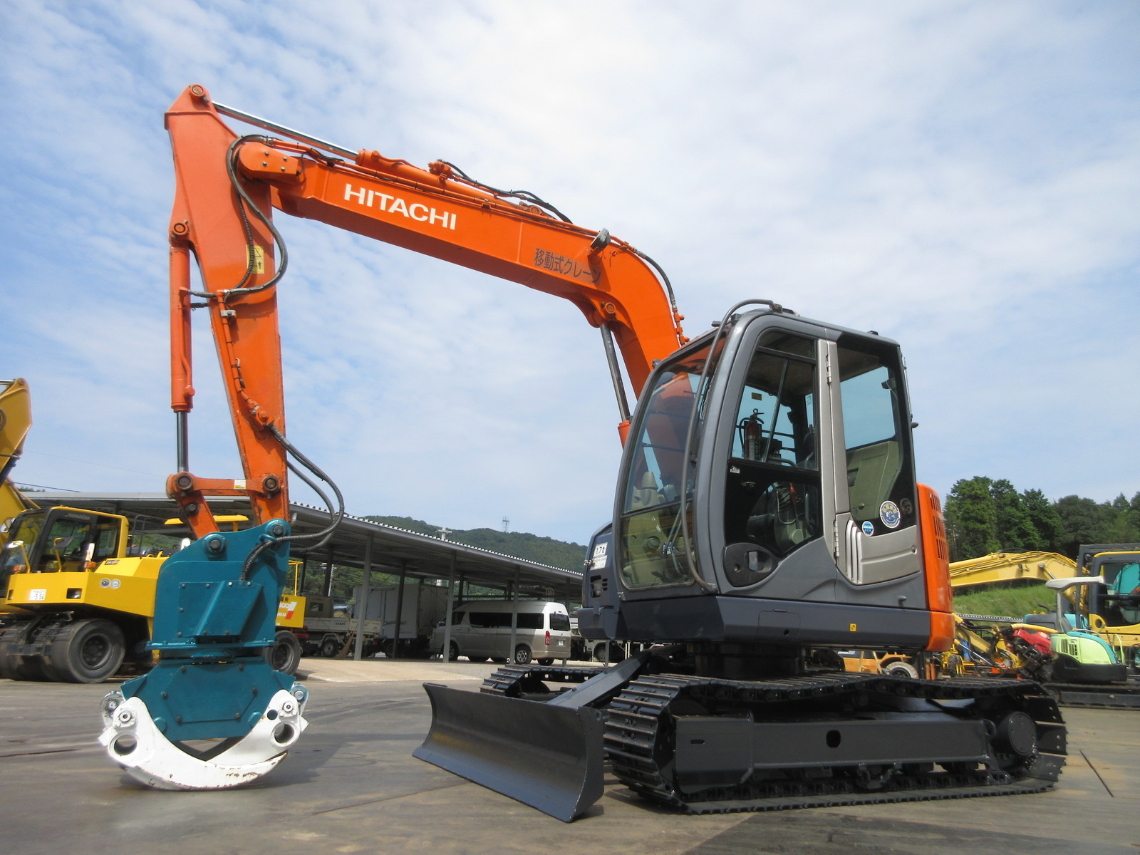 Used Construction Machine used Excavator HITACHI ZX75US-3 Photos