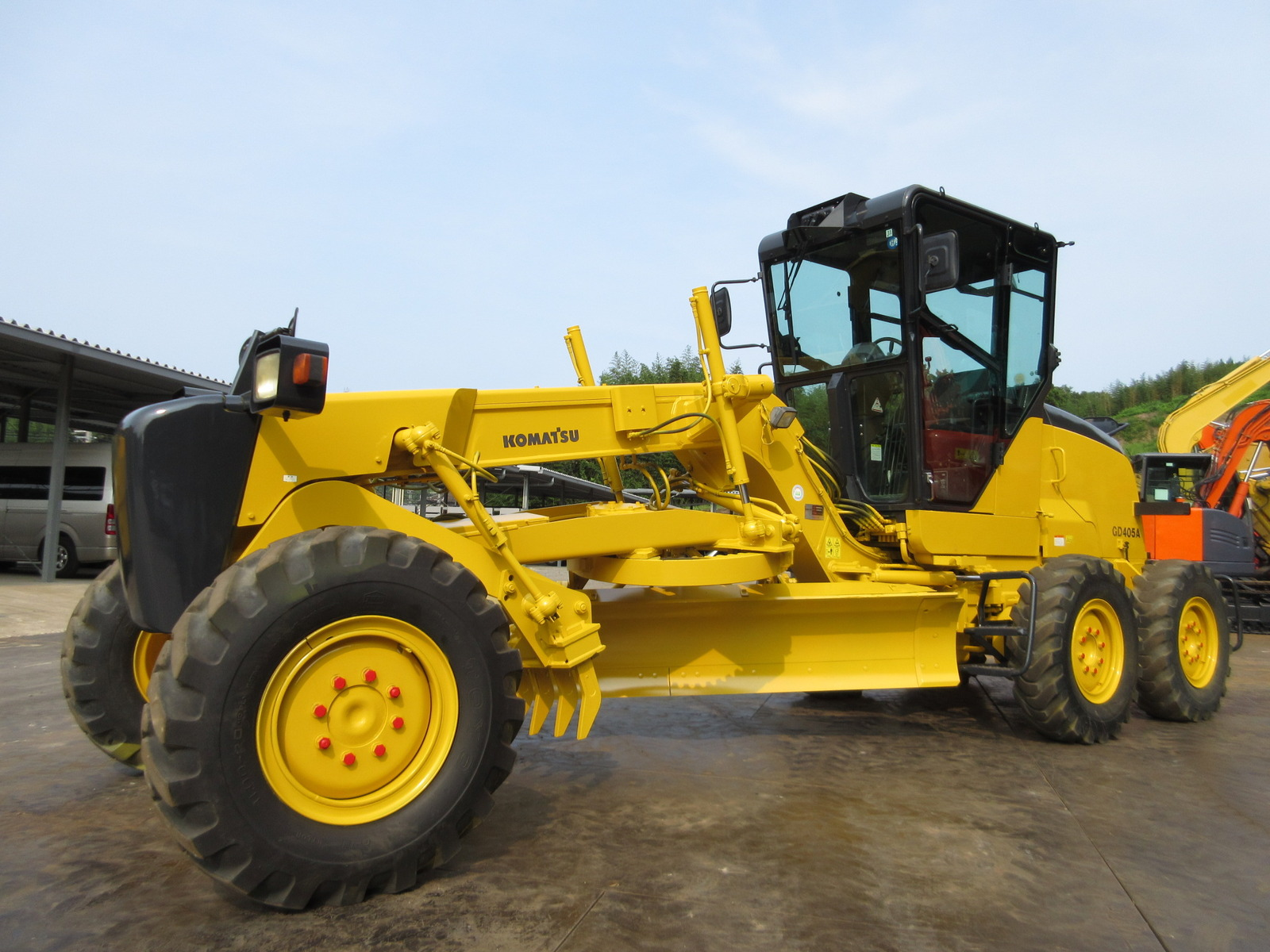 Used Construction Machine used Grader KOMATSU GD405A-3 Photos