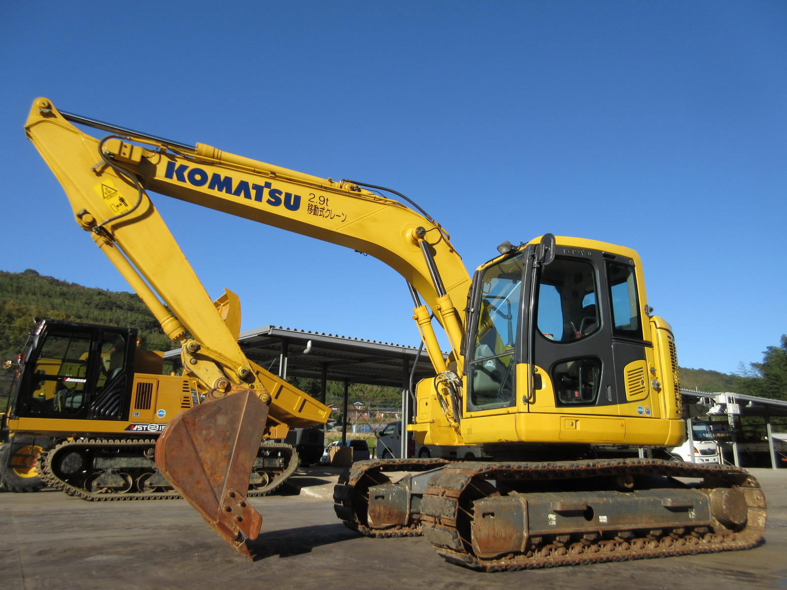 Used Construction Machine used Excavator KOMATSU PC128US-10 Photos