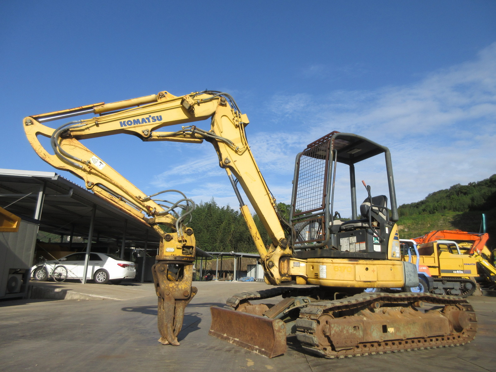 Used Construction Machine used Excavator KOMATSU PC35MR-2 Photos