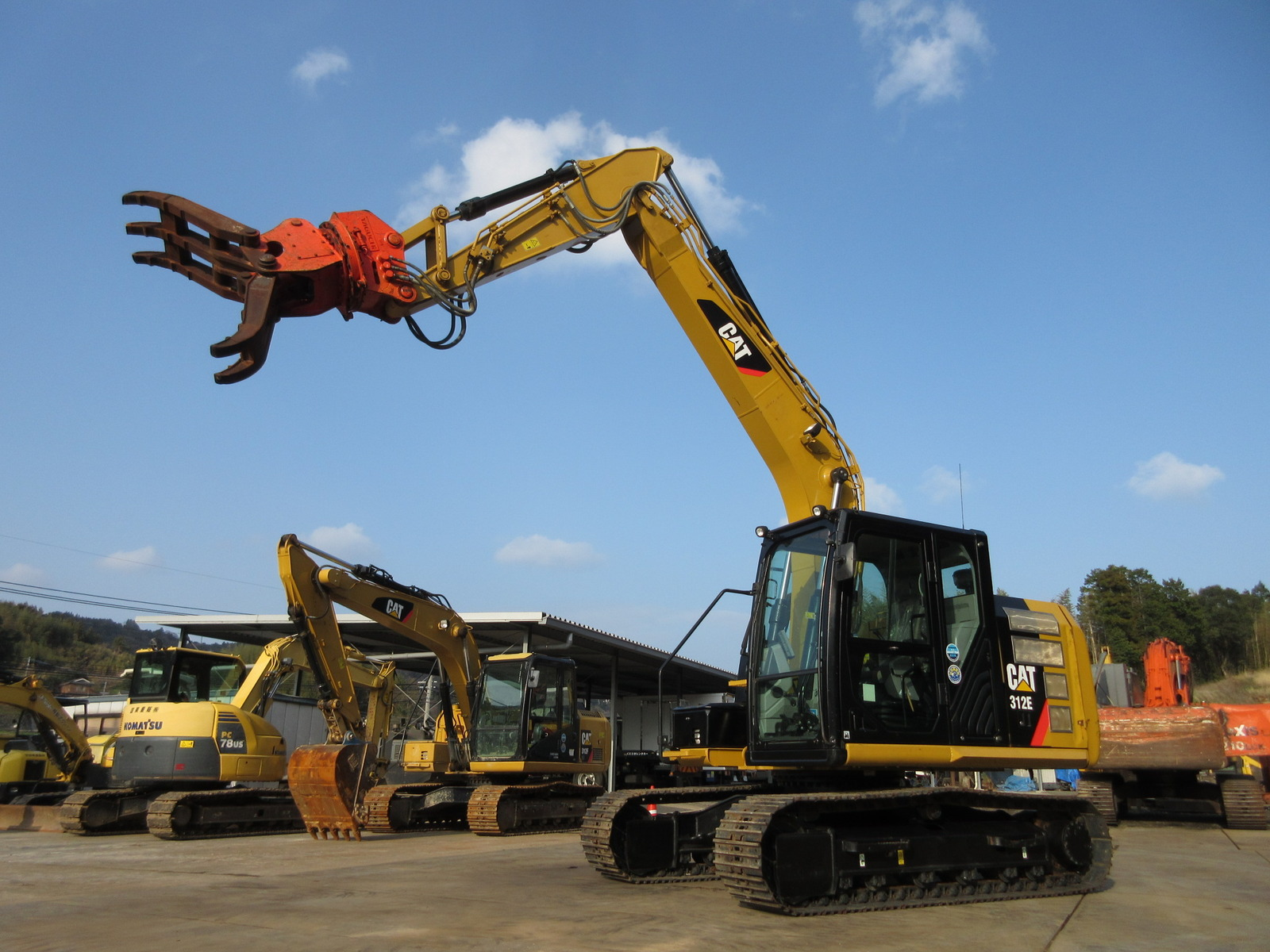 Used Construction Machine used  Material Handling / Recycling excavators Grapple 312E-2 Photos